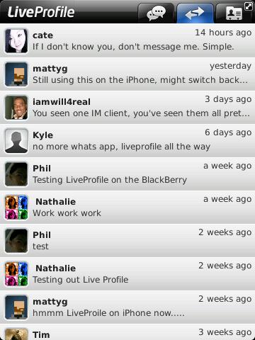 LiveProfile Updates