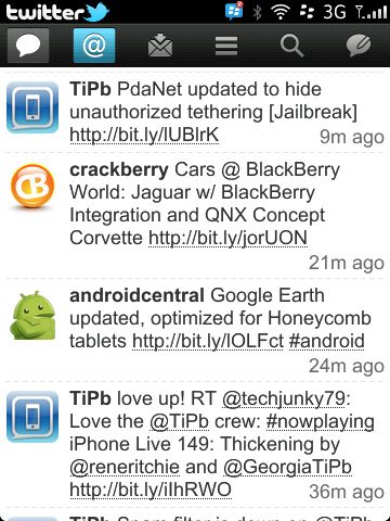 Twitter For BlackBerry v2.0