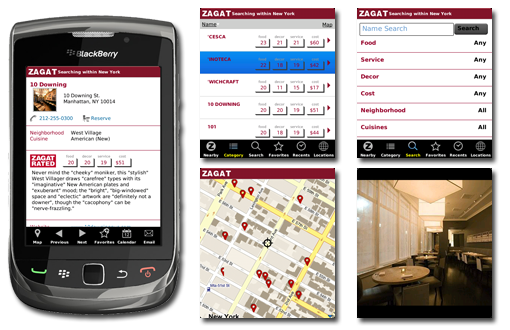 Zagat for BlackBerry
