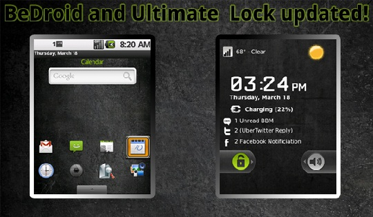 BeDroid and Ultimate Lock Updated