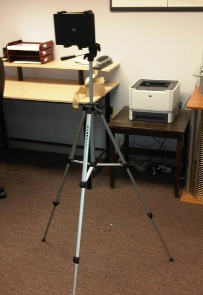 BlackBerry PlayBook tripod