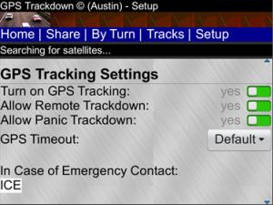 GPS Trackdown for BlackBerry