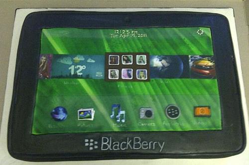 BlackBerry PlayBook cake