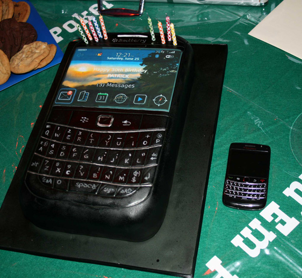 BlackBerry birthday cake