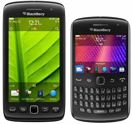 BlackBerry Torch 9860 and Curve 9360