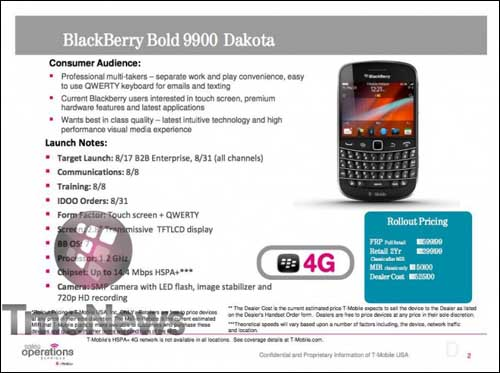 BlackBerry Bold 9900 T-Mobile