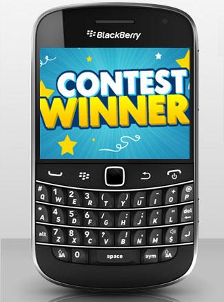 AT&T BlackBerry Bold 9900 winner