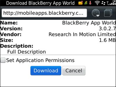 BlackBerry App World updated to v3.0.2.7