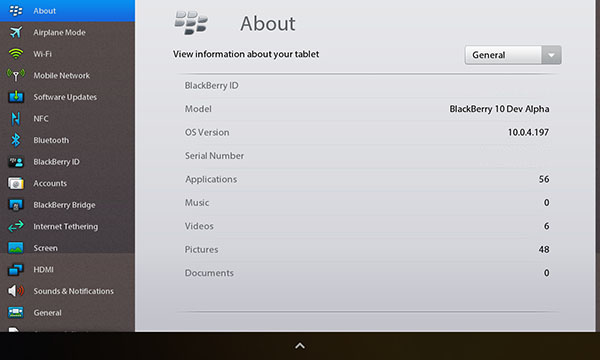 BlackBerry 10 Dev Alpha Apps