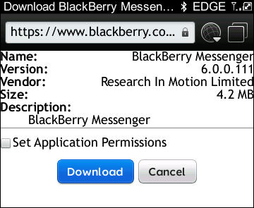 BlackBerry Messenger update
