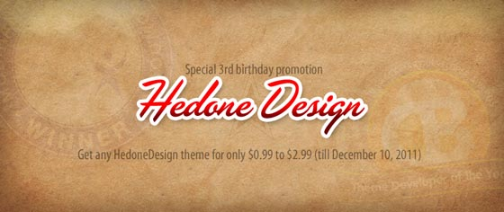 HedoneDesign birthday sale