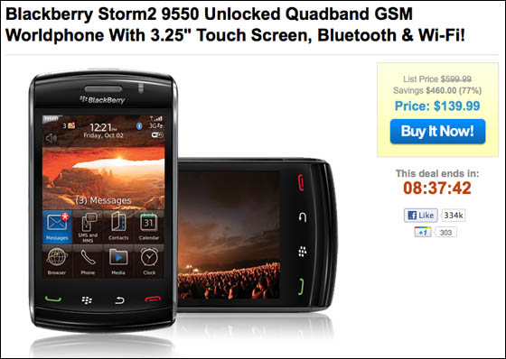 BlackBerry Storm 2 sale
