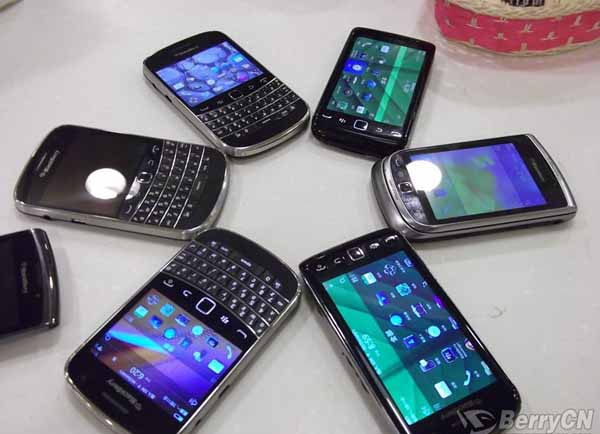 unreleased BlackBerry devices