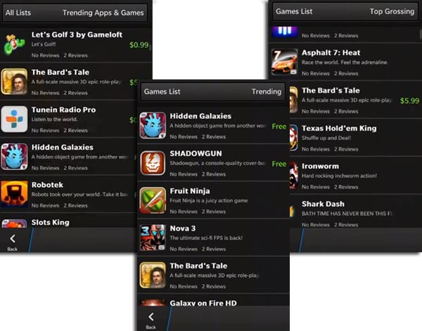 BlackBerry 10 games