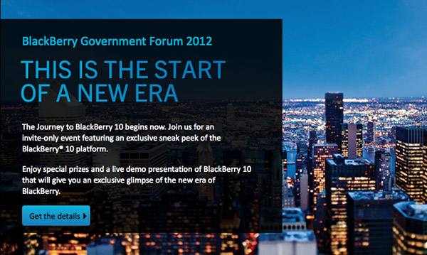 BlackBerry Government Forum