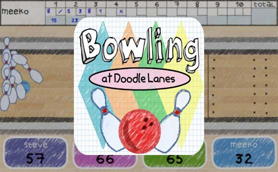 Bowling at Doodle Lanes