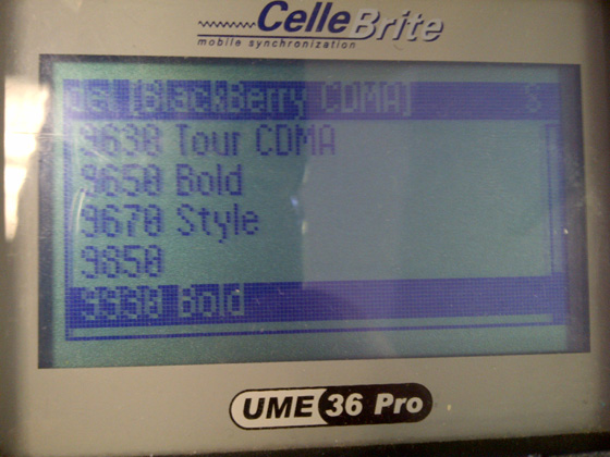 BlackBerry Bold Touch 9930 and Torch 9850 in Sprint's Cellebrite