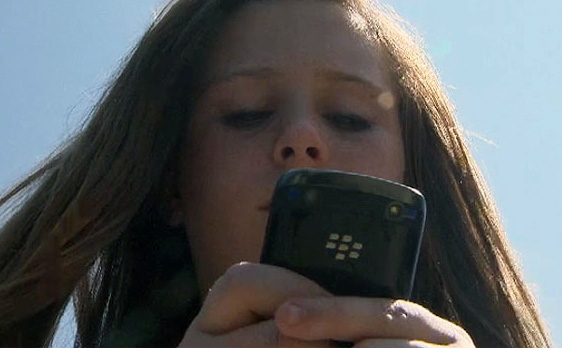 Claire got a BlackBerry for her birthday!