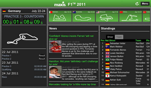 Maxis F1 2011 PlayBook