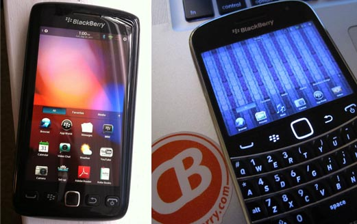 Fake QNX BlackBerry Bold and Torch