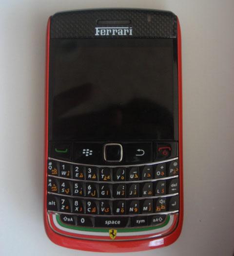 Ferrari BlackBerry Bold 9700