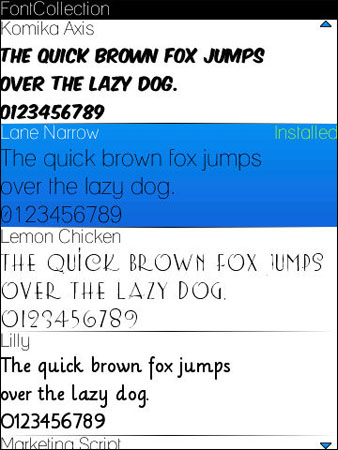 FOR FONT BLACKBERRY DOWNLOAD STYLE