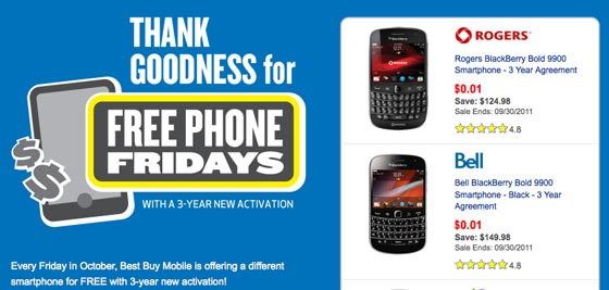 Free Phone Friday at Best Buy
