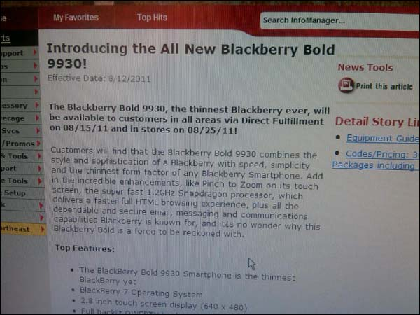 Verizon Bold 9930