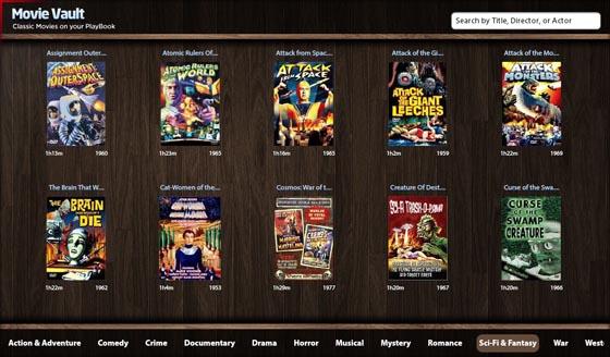 Movie Vault for BlackBerry PlayBook