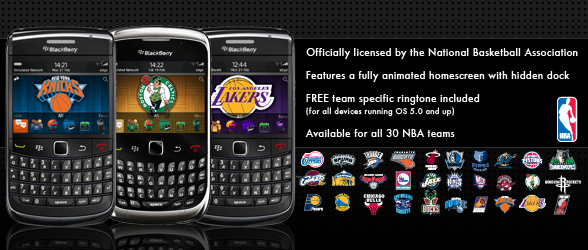 Official NBA themes for BlackBerry