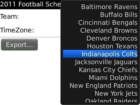 NFL2011 Schedule