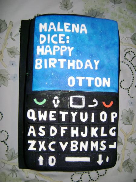 Otton's BlackBerry cake