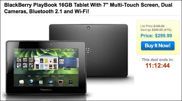 BlackBerry PlayBook sale