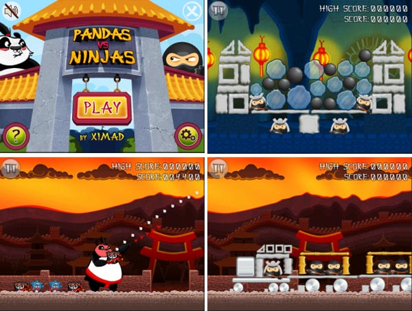 Pandas vs Ninjas!