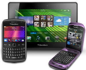 BlackBerry smartphones and tablet