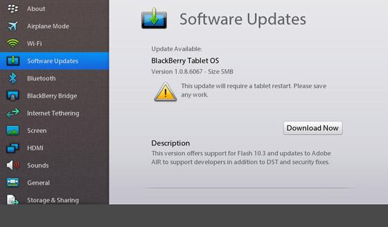 PlayBook OS Update