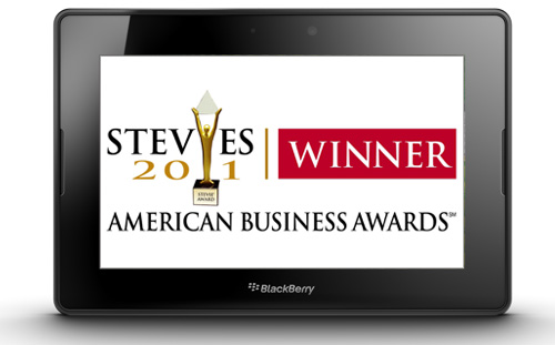 PlayBook wins Stevie Award