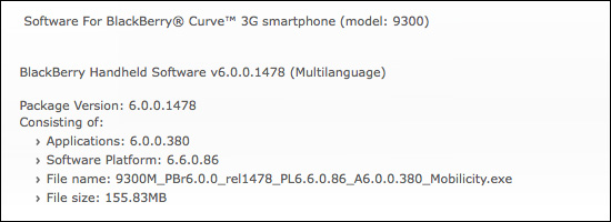 Mobiilicity 6.0.0.380 for BlackBerry Curve 3G