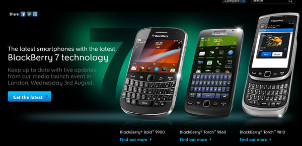 BlackBerry UK BB7 devices