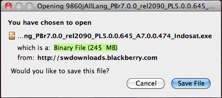 BlackBerry Torch 9860 OS v7.0.0.474