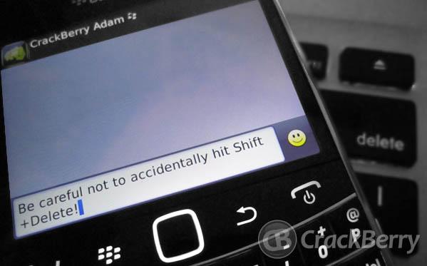 Shift + Delete