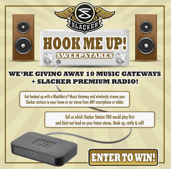 Slacker Music Gateway Contest