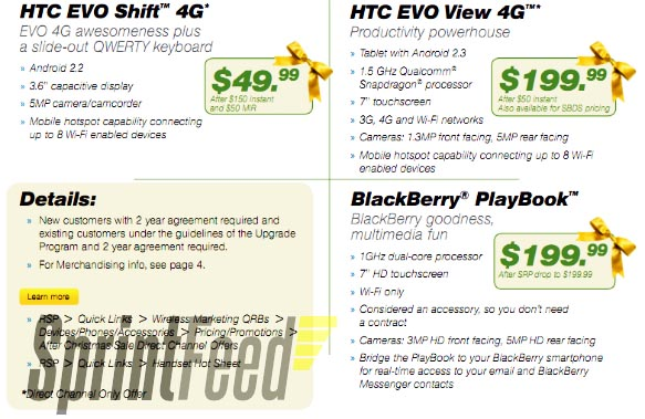 BlackBerry PlayBook on sale at Sprint