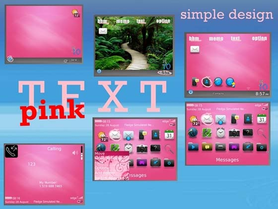 TEXT Pink by Simple Design