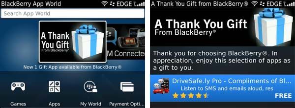 Thank You from BlackBerry