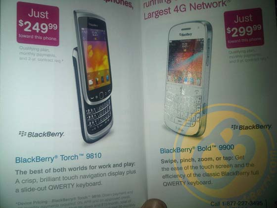 T-Mobile white BlackBerry Bold 9900