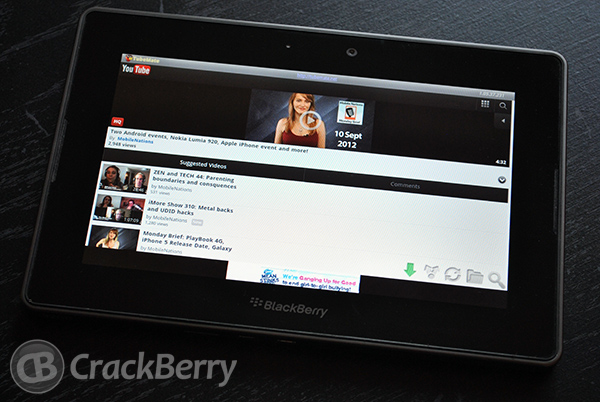 TubeMate for BlackBerry PlayBook