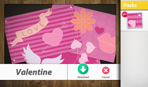 Valentine's Day BlackBerry Playbook Scrapbook