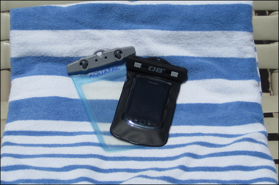 Overboard and Aquapac cases for BlackBerry
