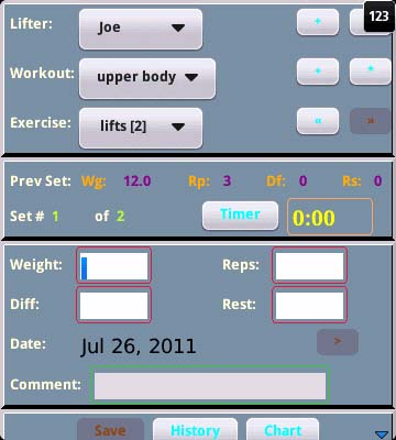 Weightlifting Workout Recorder